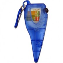 San Jamar SFC1250QT Saf-Check Quaternary Measurer With Integrated Bimetallic Thermometer Calibration Tool
