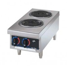 Star 502CF Star-Max Two Burner Hotplate with Flat Spiral Tubular Elements