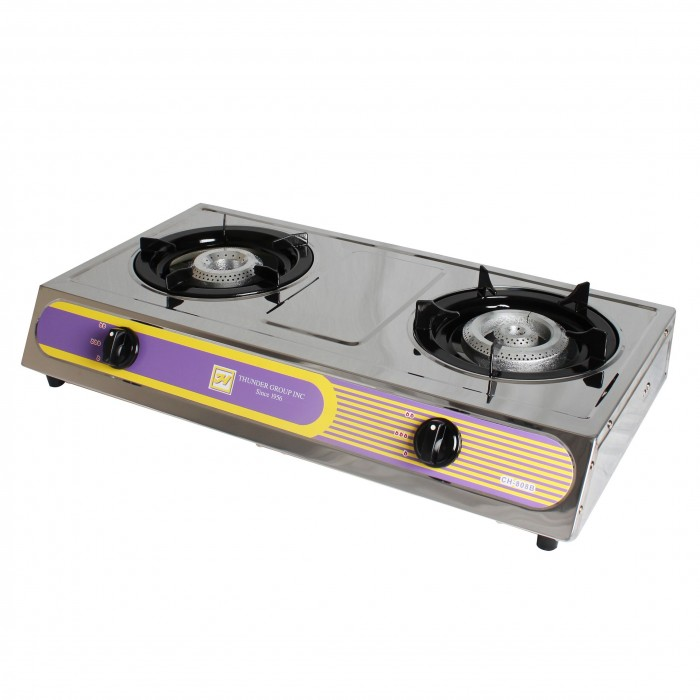 Countertop Burner Reviews : Thunder Group SLST002 Double Burner Countertop Gas Powered Hot Plate ...