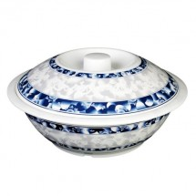 Thunder Group 8010DL Blue Dragon 63 oz. Serving Bowl With Lid