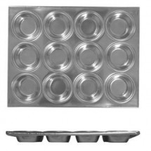 Thunder Group ALKMP012 3-1/2 oz. 12 Cup Muffin Pan