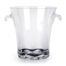 Thunder Group  PLTHBK040C 4QT Polycarbonate Ice Bucket With Easy Grip Handles