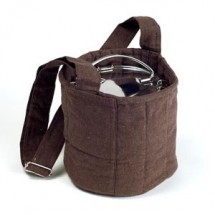 To Go Ware Brown 2-Tier Cotton Carrier Bag