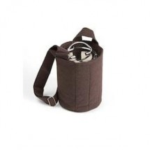 To Go Ware Plum Brown  3-Tier Cotton Carrier Bag