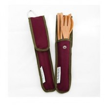 To Go Ware RePEaT Merlot  Bamboo Utensil Set