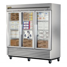 True T-72FG 72 Cu Ft Reach-In Three-Section Freezer
