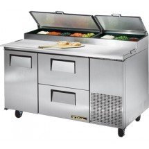 True TPP-60D-2 15.9 Cu Ft Pizza Prep Table With 19.5