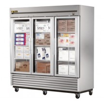 True TS-72FG 72 Cu Ft Reach-In Three-Section Freezer
