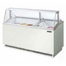 Turbo Air TIDC-70W 70'' White Ice Cream Dipping Cabinet