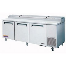 Turbo Air TPR-93SD Three-Section Super Deluxe Pizza Prep Table