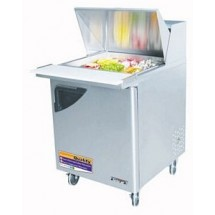 Turbo Air TST-28SD-12 One-Section 8 Cu. Ft. Super Deluxe Sandwich/Salad Unit