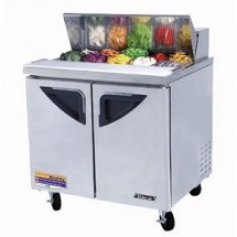 Turbo Air TST-36SD Two-Sections 11 Cu. Ft. 2 Door Super Deluxe Sandwich/Salad Unit
