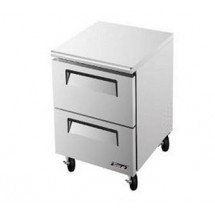 Turbo Air TUF-28SD-D2 One-Section 7 Cu. Ft. 2 Drawer Super Deluxe Series Undercounter Freezer