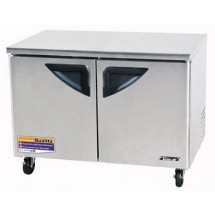 Turbo Air TUF-48SD Two-Section 12 Cu. Ft. 2 Door Super Deluxe Series Undercounter Freezer