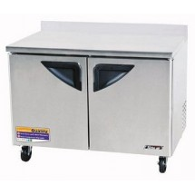 Turbo Air TWF-48SD Two-Section 12 Cu. Ft. 2 Door Super Deluxe Worktop Freezer