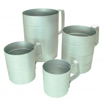 Update International ADME-05 Aluminum 1 Pint Dry Measuring Cup