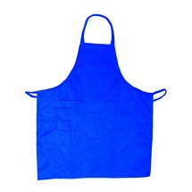 Update International BAP-BL Blue Cotton Twill Bib Apron