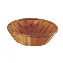 Update International BB-8R Rattan Round Bread Basket