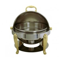 Update International BEL-17 Solid Brass Accented Chafer Bel Air Dish