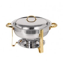 Update International DC-4 / GB 4 Qt. Round Chafing Dish Pack in Gift Box