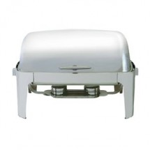 Update International EC-15N Full Size 8 Qt. Roll Top Chafer Dish