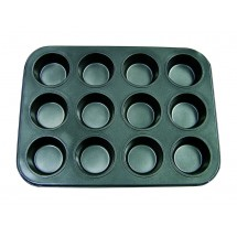 Update International MPNS-12 Non-Stick Carbon Steel 12 Cup Muffin Pan