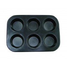 Update International MPNS-6 Non-Stick Carbon Steel 6 Cup Muffin Pan