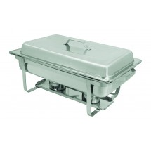 Update International SCC-19 Stackable Full Size Chafer with Lift-off Lid and Stainless Steel Handle
