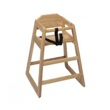 Update International WD-HC Natural Wood Baby High Chair