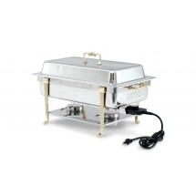 Vollrath 46045 Oblong Stainless Steel Electric Full Size Chafer
