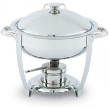 Vollrath 46503 Stainless Steel High Mirror Finish Round Chafer