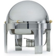 Vollrath 48770 Silver Plated Round Roll Top Chafer
