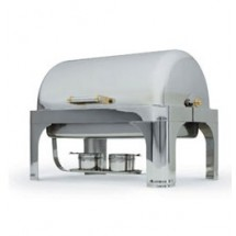 Vollrath 48780 Solver Plated Oblong Roll Top Chafer