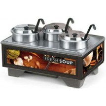 Vollrath 720201002 Full Size Soup Warmer Merchandiser with 4 Qt Accessories-Tuscan Graphics