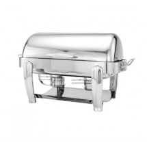 Walco 53150CH Hallmark Collection Oblong Roll Top Chafer 8 Qt.