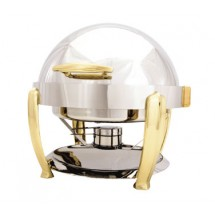 Walco 53240  Hallmark Collection Round,  Roll Top Chafer, 8 Qt.