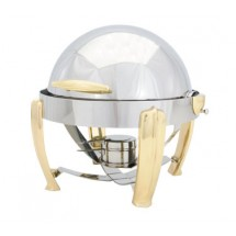 Walco 53250 Hallmark Collection Round Full Size Roll Top Chafer 5 Qt.