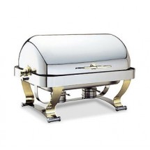Walco 54120G  Grandeur Rectangular Roll Top Chafer 8 Qt.