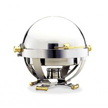 Walco 54130G  Satellite Roll Top Chafer 6 Qt, Round