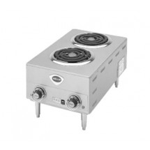 Wells H63/208/240V Spiral Double Burner Electric Hotplate with 4