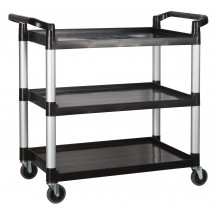 Winco  UC-40K 3 Tier Black Utility Cart