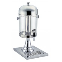 Winco 902 7-1 / 2 Qt Juice Dispenser with Brass Accents