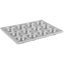 Winco AMF-12 12 Compartments Alum Muffin Pan