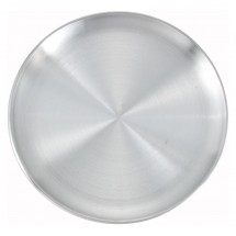 "Winco APZC-8 8"" Aluminum Coupe-Style Pizza Pan"
