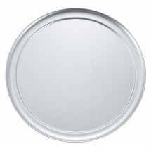 "Winco APZT-14 14"" Aluminum Wide Rim Pizza Pan"