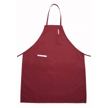 Winco BA-PBG Burgundy Bib Apron with Pocket