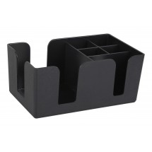 Winco BC-6 Black Bar Caddy with 6 Compartments