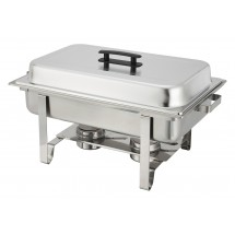 Winco C-3080B Stainless Oblong 8 Quart Chafer