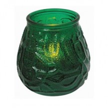 Winco CLG-3G Glass Candle Holder with Tealight-Green