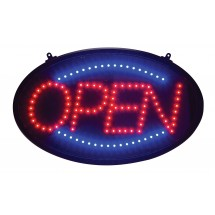 Winco LED-10 LED Open Sign with 3 Flashing Patterns